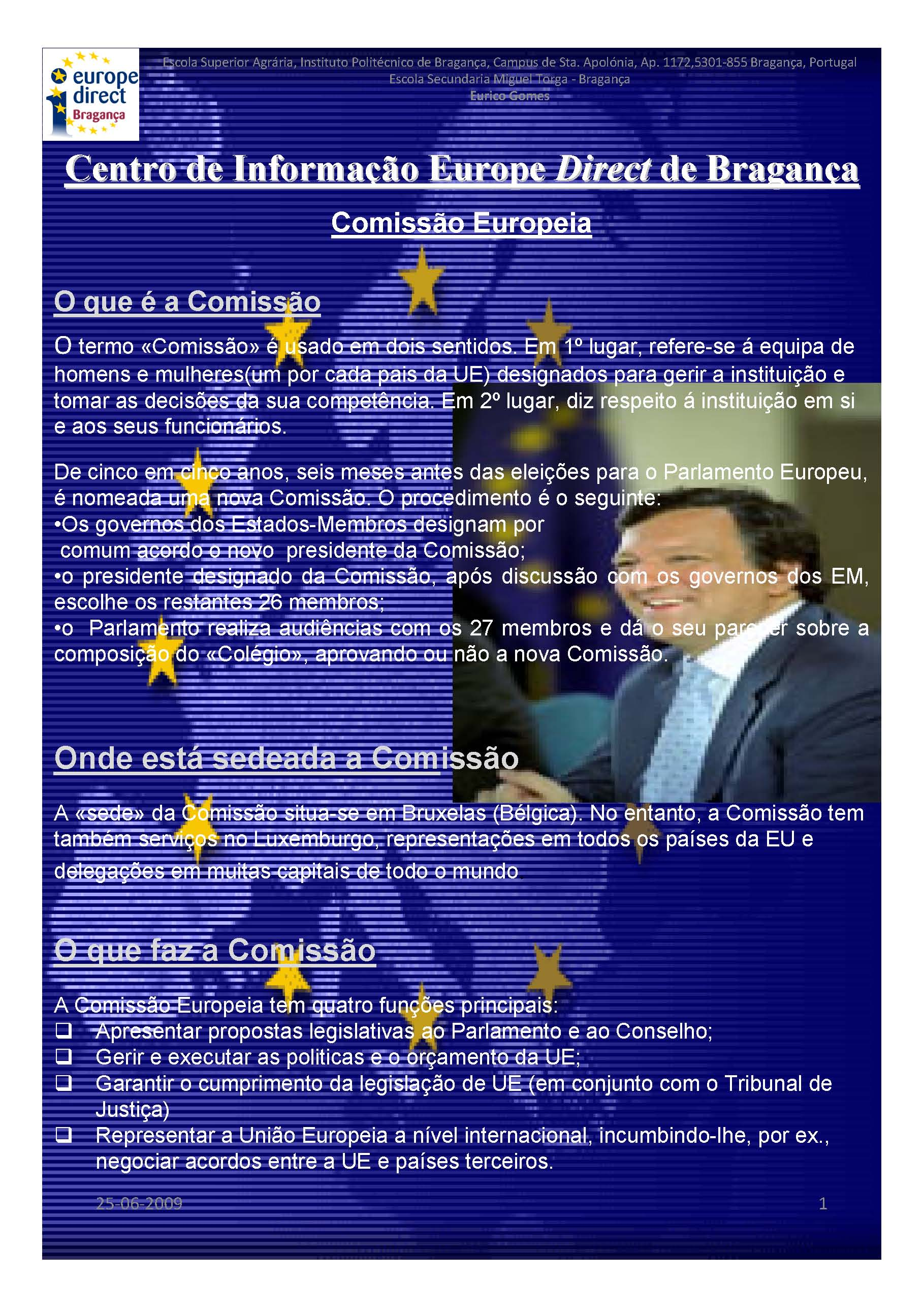 Estágio Profissional – Escola Miguel Torga