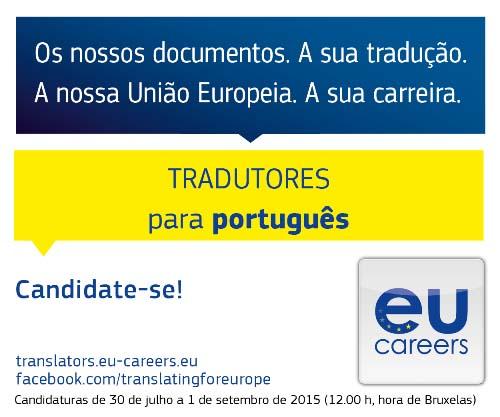 Concurso para tradutores – data limite – 1 de setembro de 2015