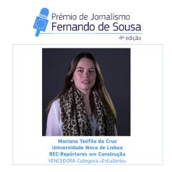 Prémio de Jornalismo «Fernando de Sousa»: vencedores da edição de 2020