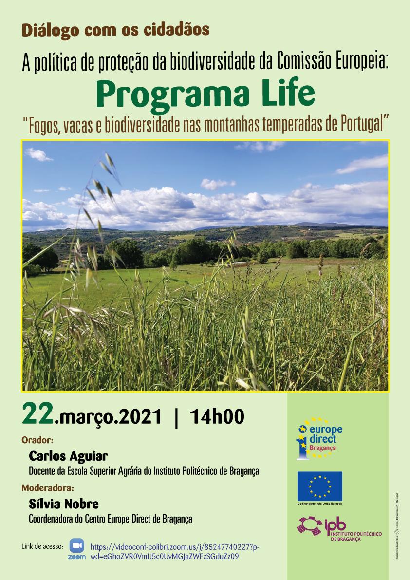 """Diálogo com os cidadãos – Programa Life – """"Fogos, vacas e biodiversidade nas montanhas temperadas de Portugal"""""""